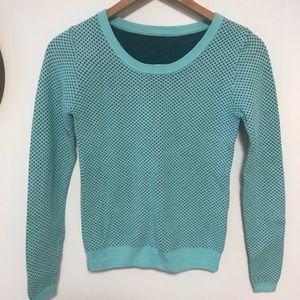 Anthro Comptior des cottoniers aqua sweater